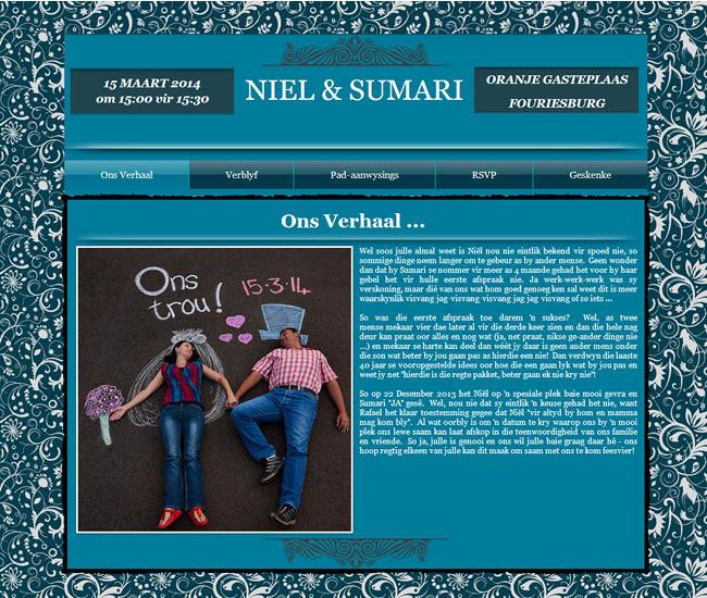 Site du mariage de Neil et Sumari