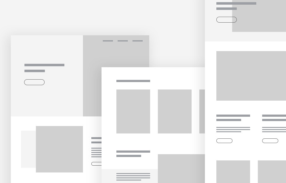 web design layout sito web