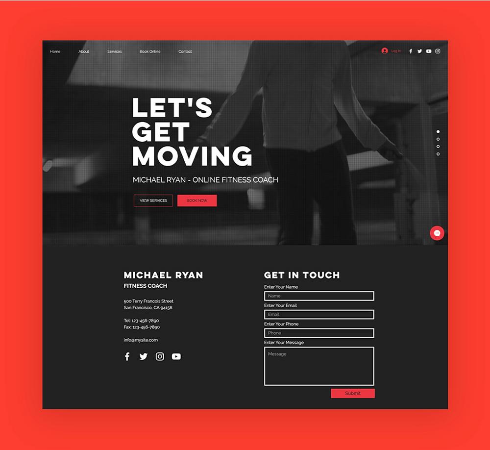 web site tasarımı, wix site şablonu