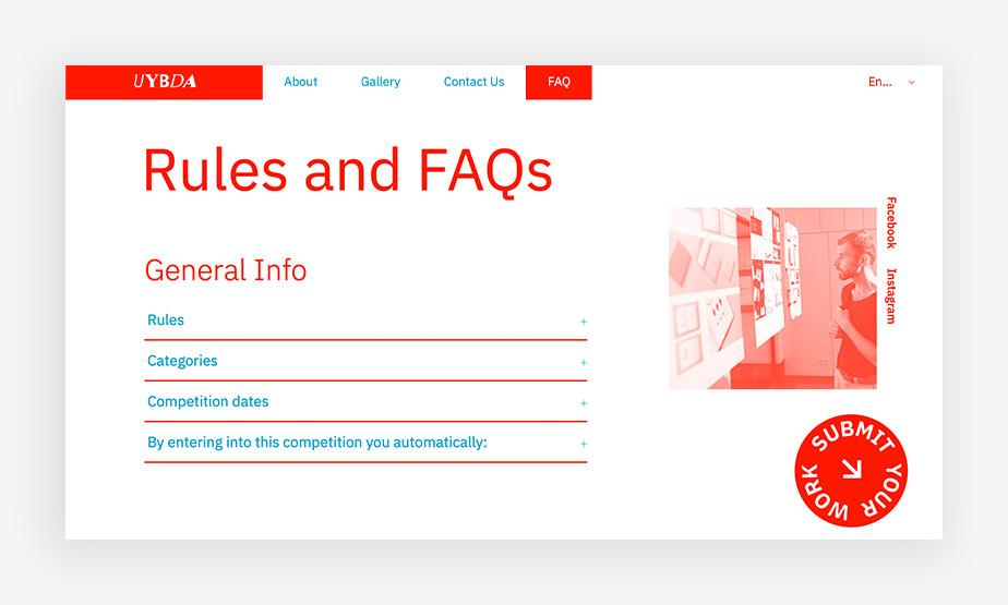 깔끔하고 선명한 색상과 메뉴 구성이 정보 전달에 힘을 실어주는 FAQ페이지 이미지