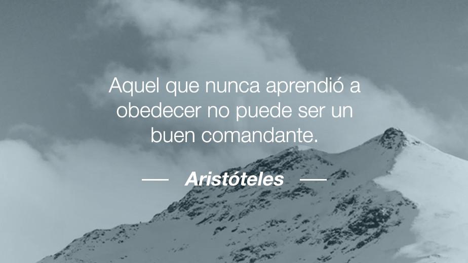 Frase del filosofo Aristóteles