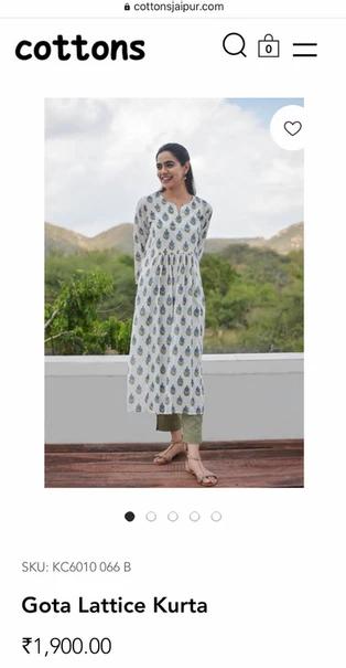 cottons jaipur sito mobile kurta