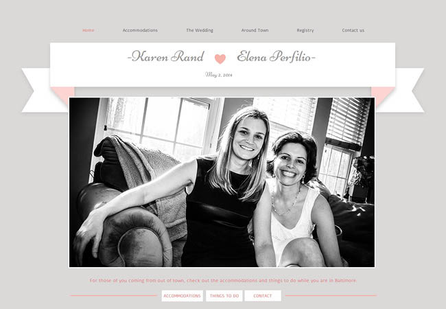Site du mariage de Karen et Helena