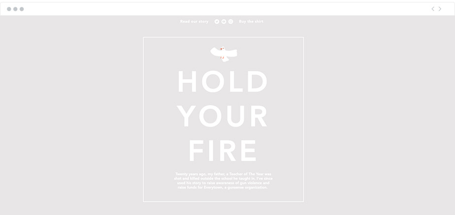 Hold Your Fire nonprofit website