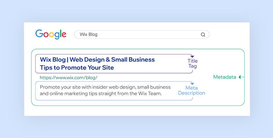 구글에서 메타 태크에 나타나는 사이트 제목 및 설명 문구 이미지