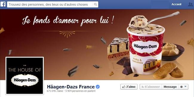 Couverture Facebook de Häagen-Dazs France