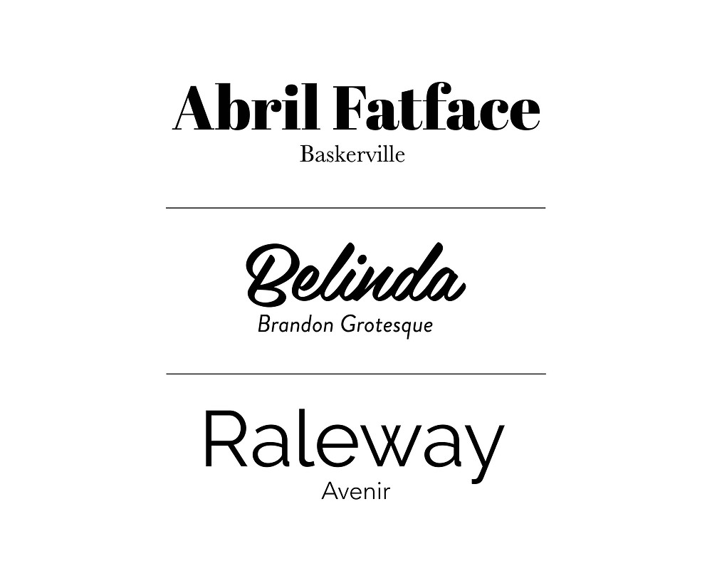 Font pairings examples