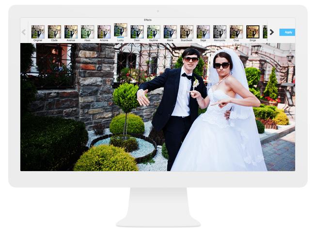 Les filtres de l'éditeur d'images Wix