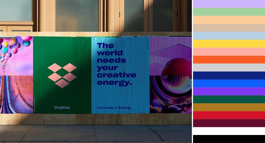 Dropbox brand colors