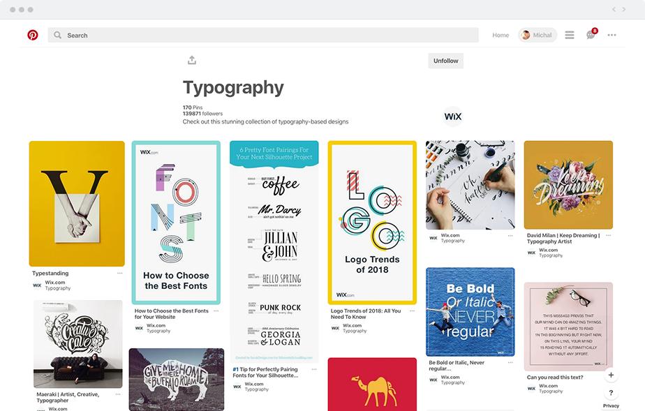 Pinterest tipografia