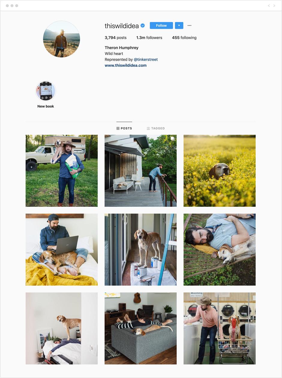 Theron Humphrey - Photographes à suivre sur Instagram