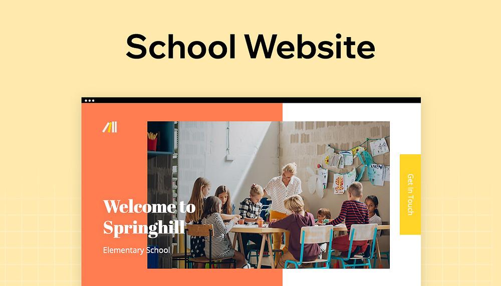 Design a school website
