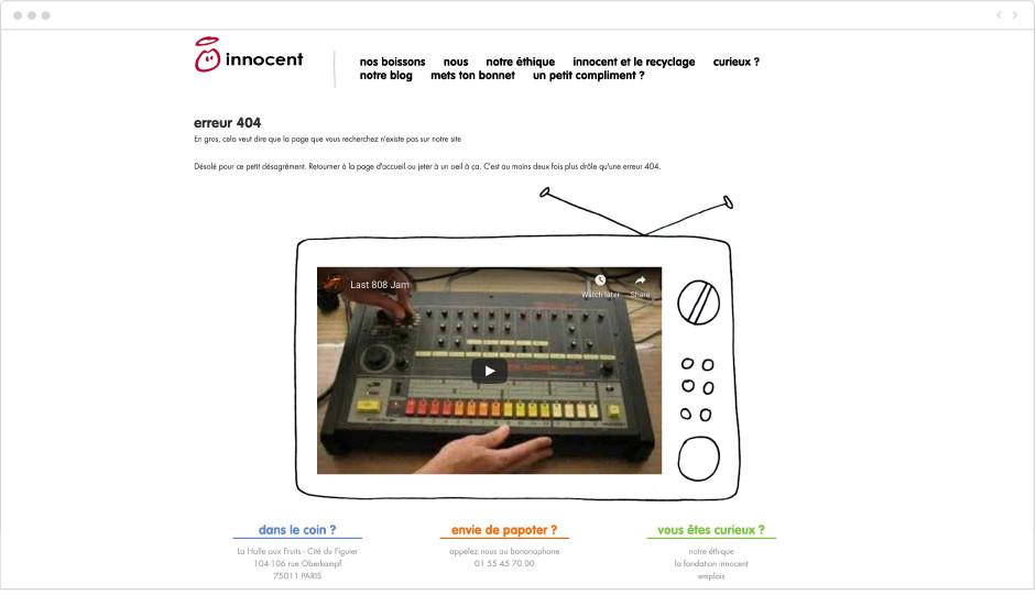 Innocent - page erreur 404