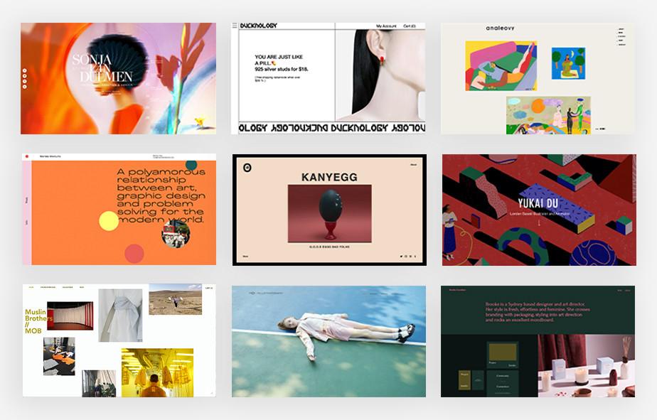 web tasarımı ilhamları