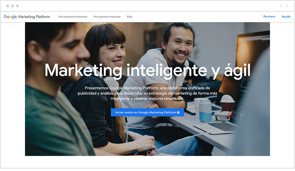 Web de Google Analytics