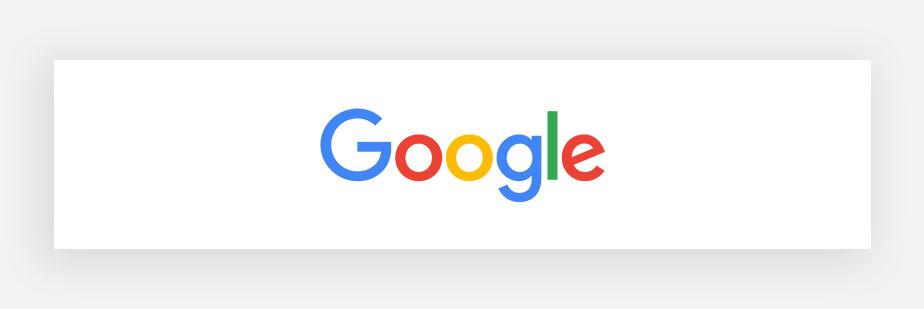 Примеры известных логотипов: Google