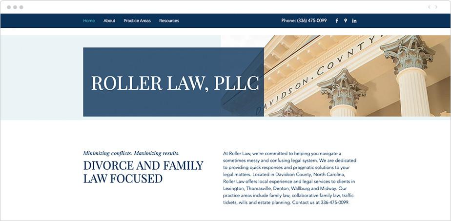Best law firm websites Roller Law