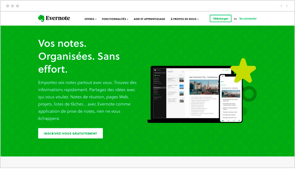 Applications pour mieux gérer son temps - Evernote