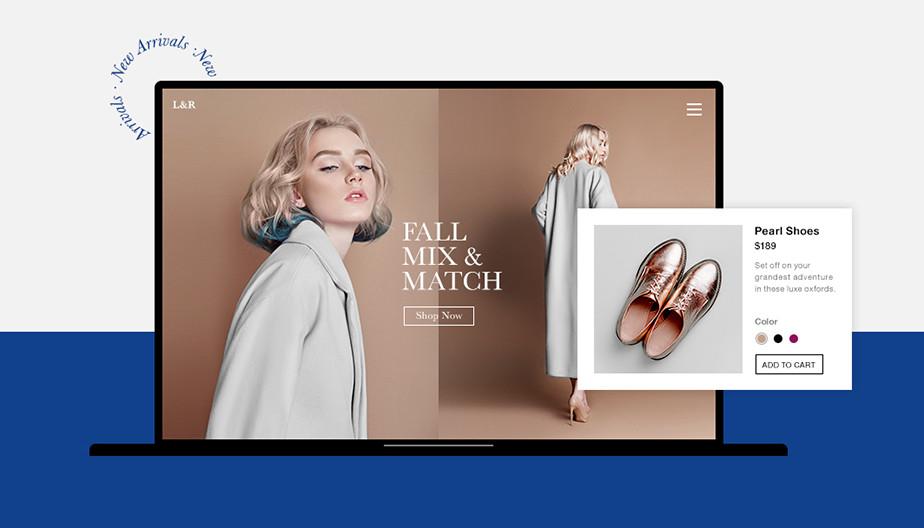 Voorbeeld van een online winkel