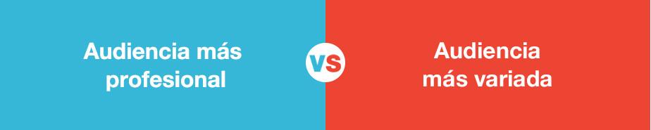 Comparación del público de Youtube y Vimeo