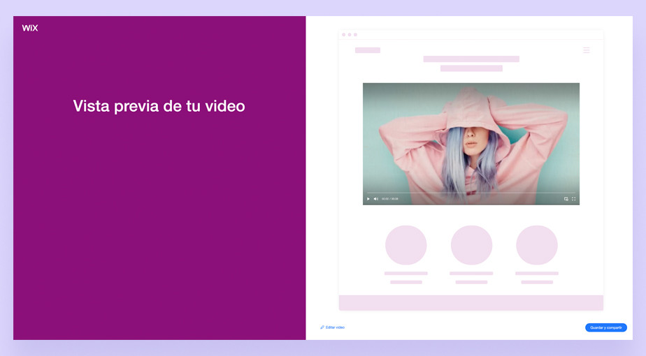 Captura de pantalla de Wix Video Maker