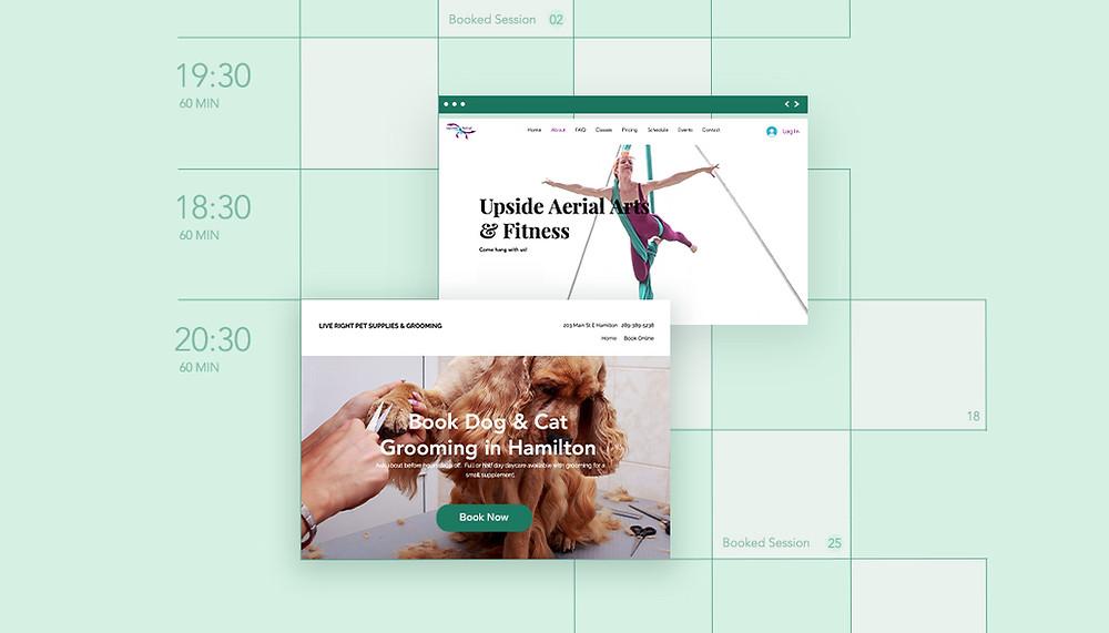 Strony z rezerwacjami online Wix Bookings - 12 przykładów