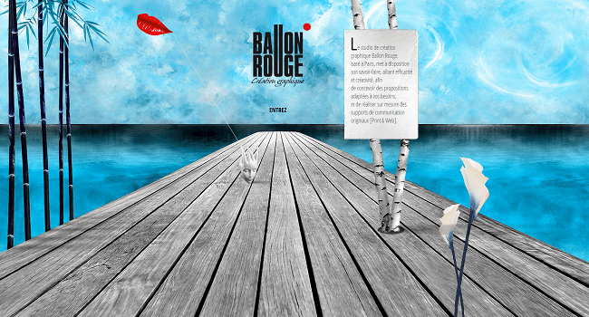 Studio ballon rouge