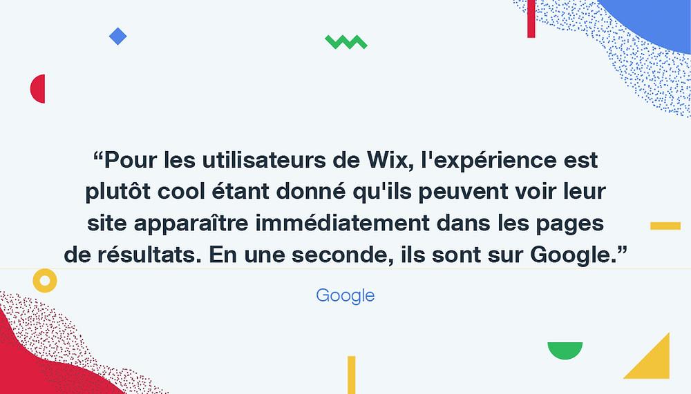 C'est officiel : votre site Wix peut apparaître sur Google en quelques secondes