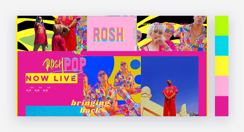 50 paletas de cores para o seu site: brilhante e forte