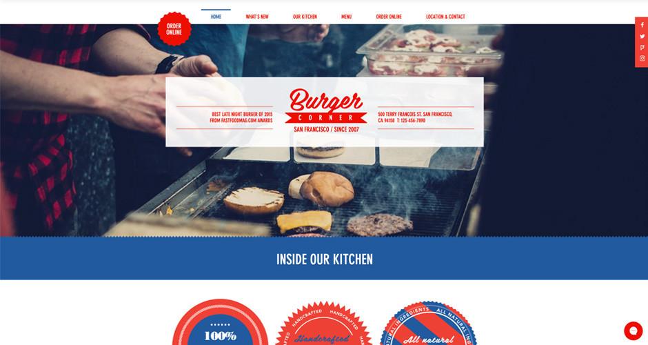 template de restaurant de burger