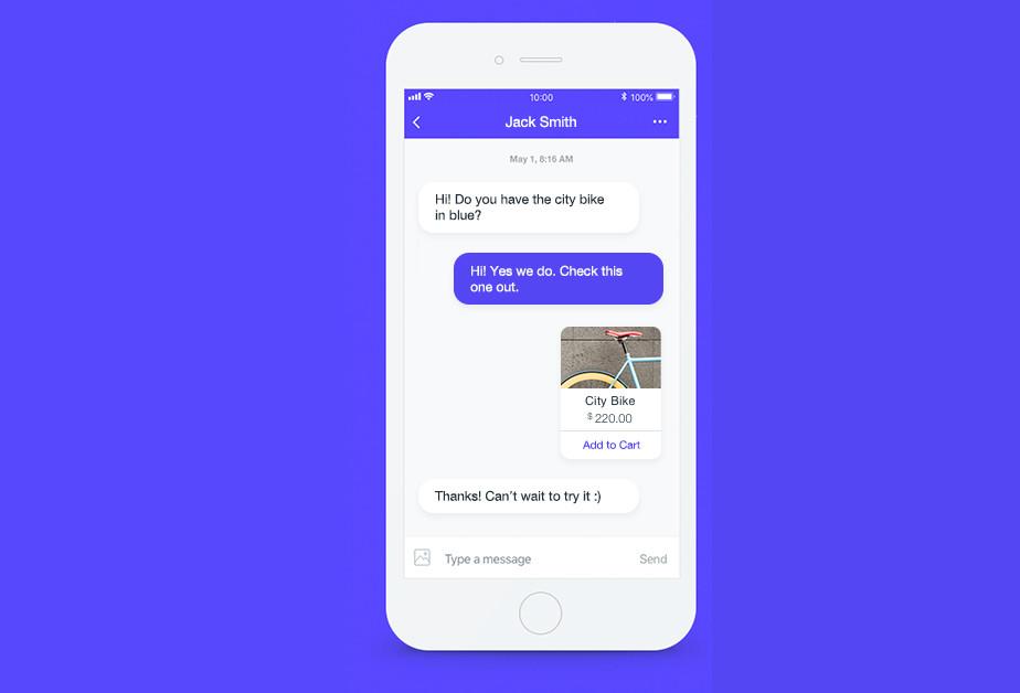 Ansicht des Live Chats von Wix auf einem Smartphone