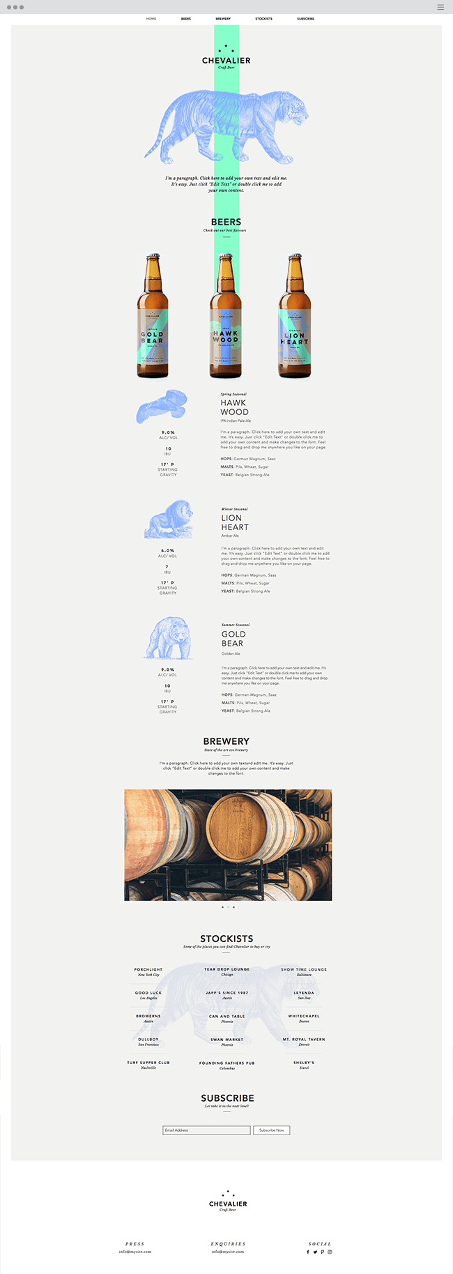 Boutique Beer Website Template