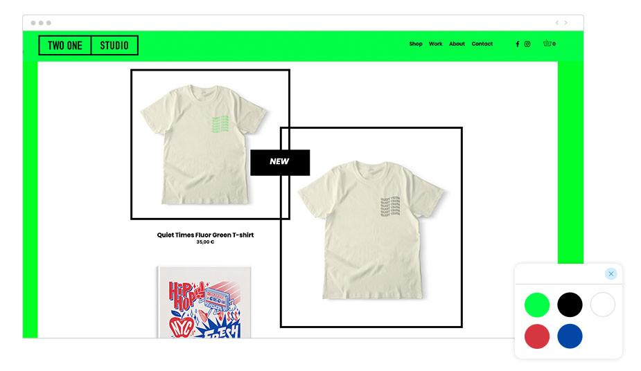Two One Studio Wix website