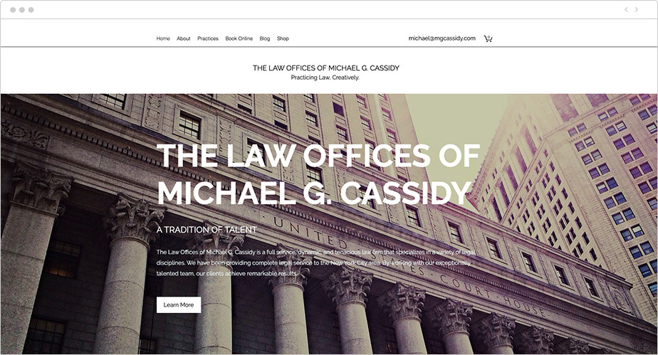 Best law firm websites Michael G Cassidy