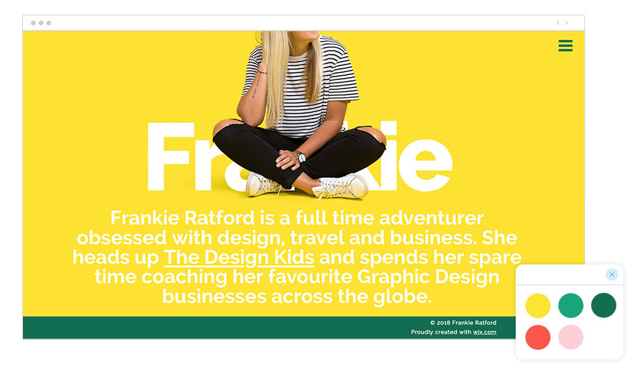 Frankie Ratford Wix website