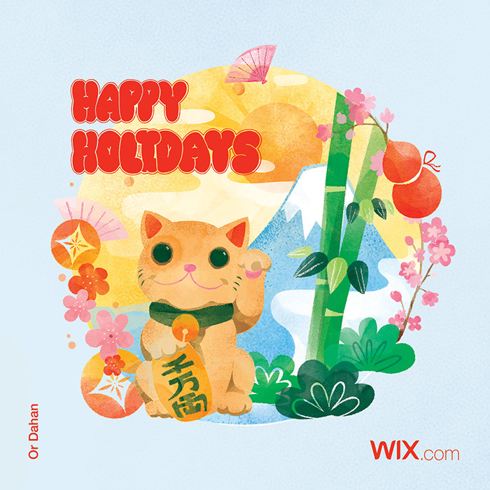 Holiday greeting card from Wix community