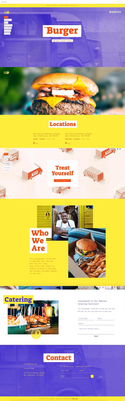 Szablon strony dla Food Truck