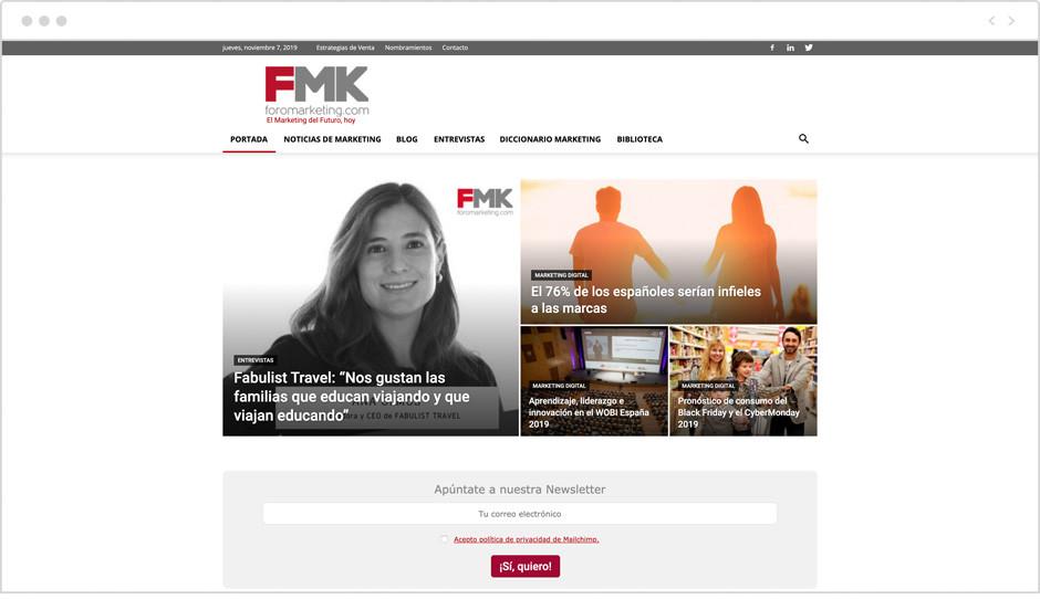 Página de inicio del Blog de ForoMarketing