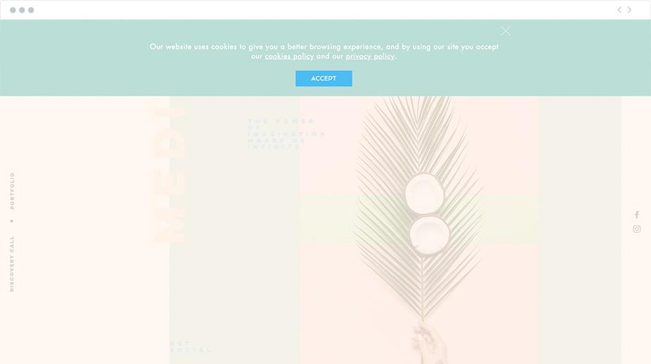 Lightbox example on Wix website Food Algorithm