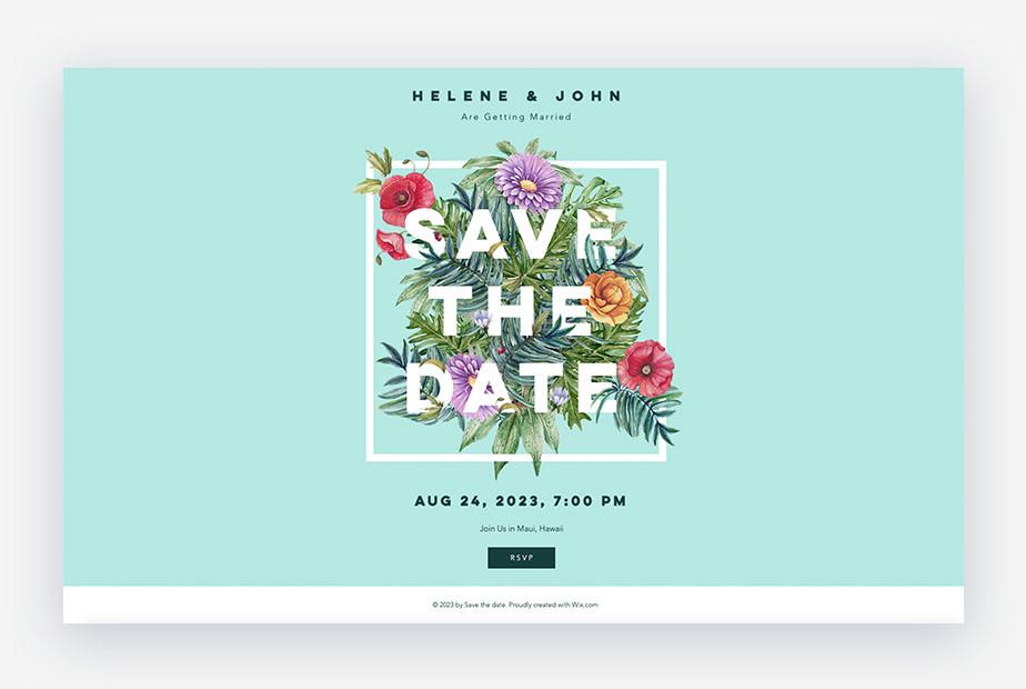 save the date sul sito matrimonio