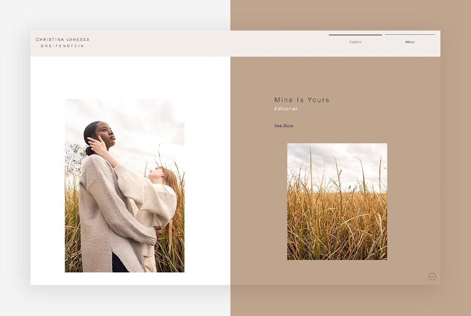 De beste portfolio website: christina vanessa