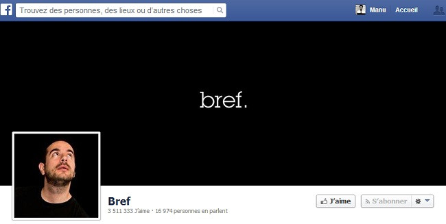 Couverture Facebook de Bref