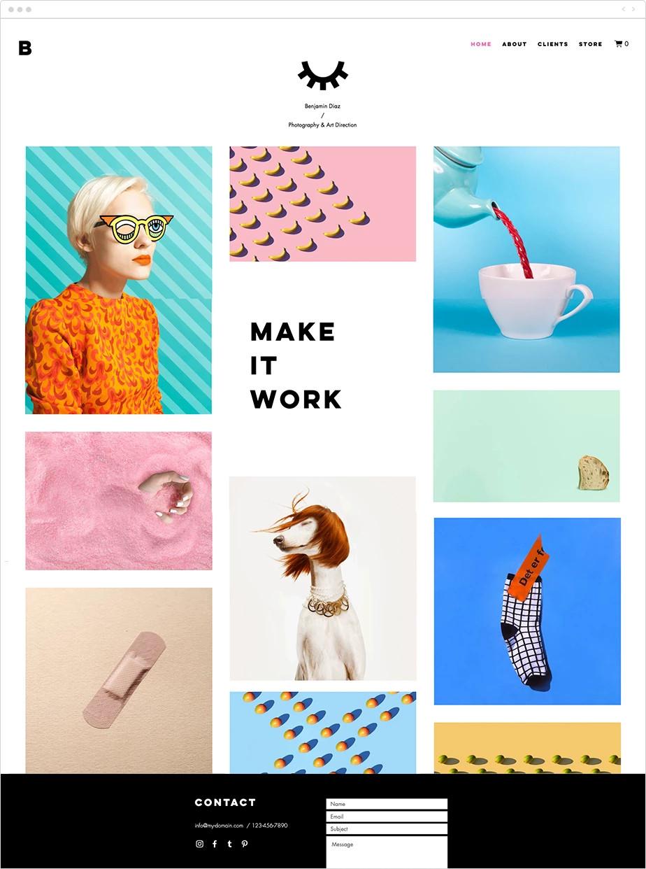 template pour artistes et designers