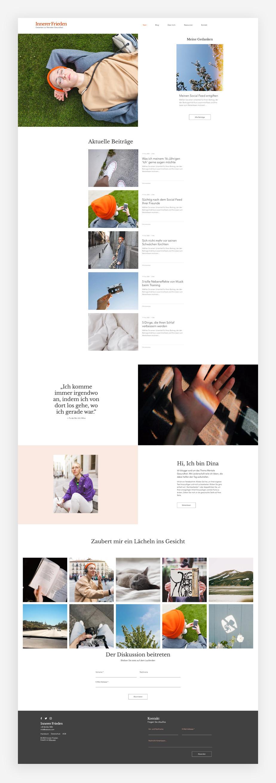 Blog Template von Wix für einen persönlichen Blog