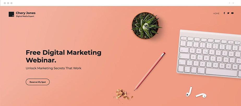 Crie um webinar