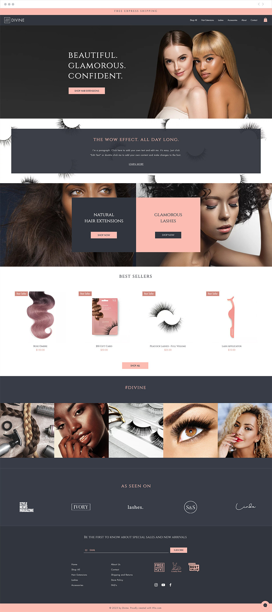 Hair Extension Website Template