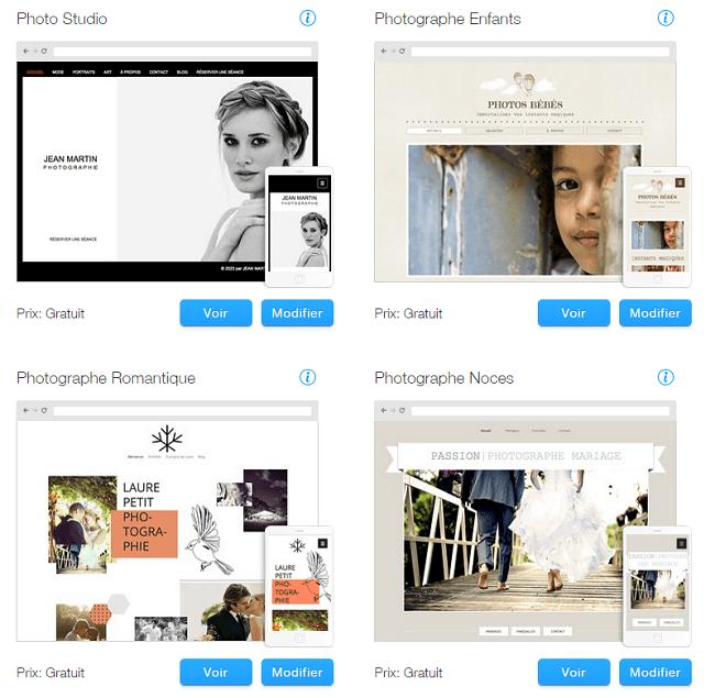 Templates Sites Wix Photographie