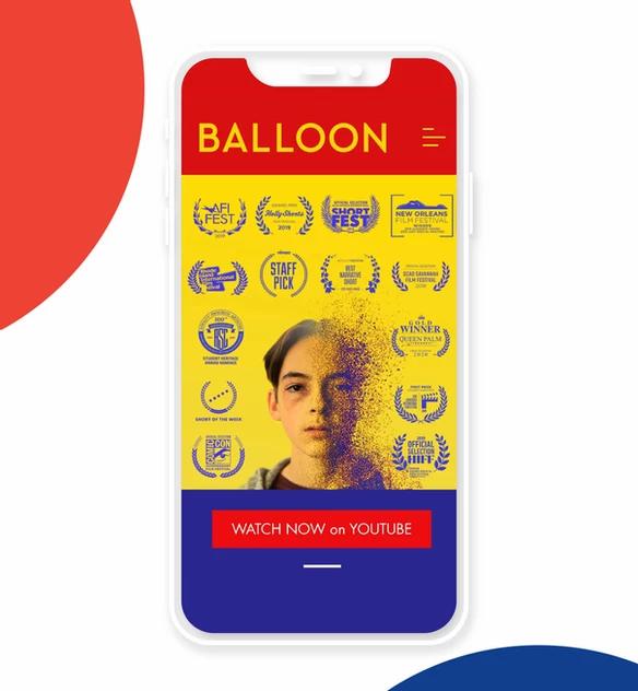 Sito web mobile di Balloon Movie