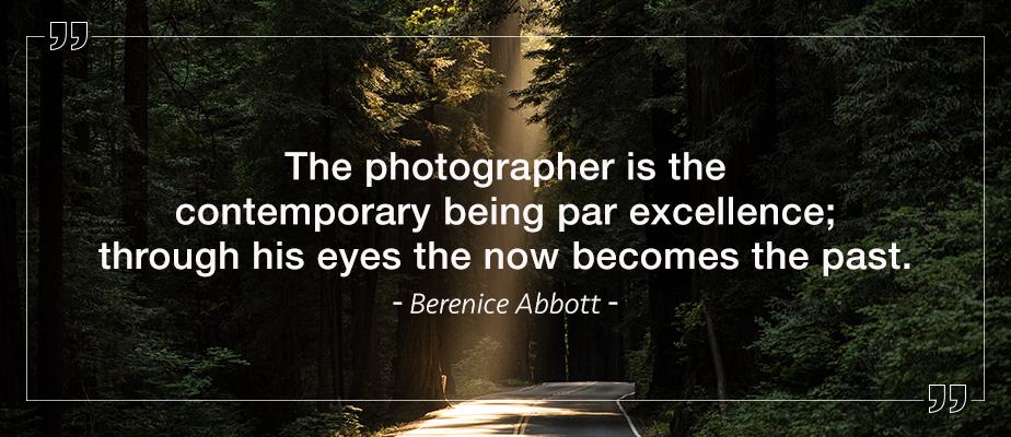 berenice abbott photography quote