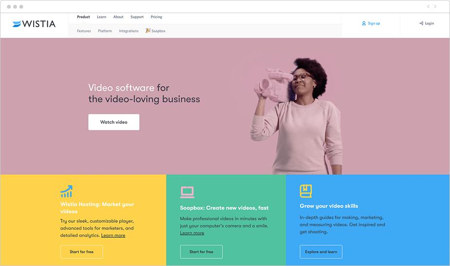 meilleurs hébergeurs vidéo 2020 - Wistia